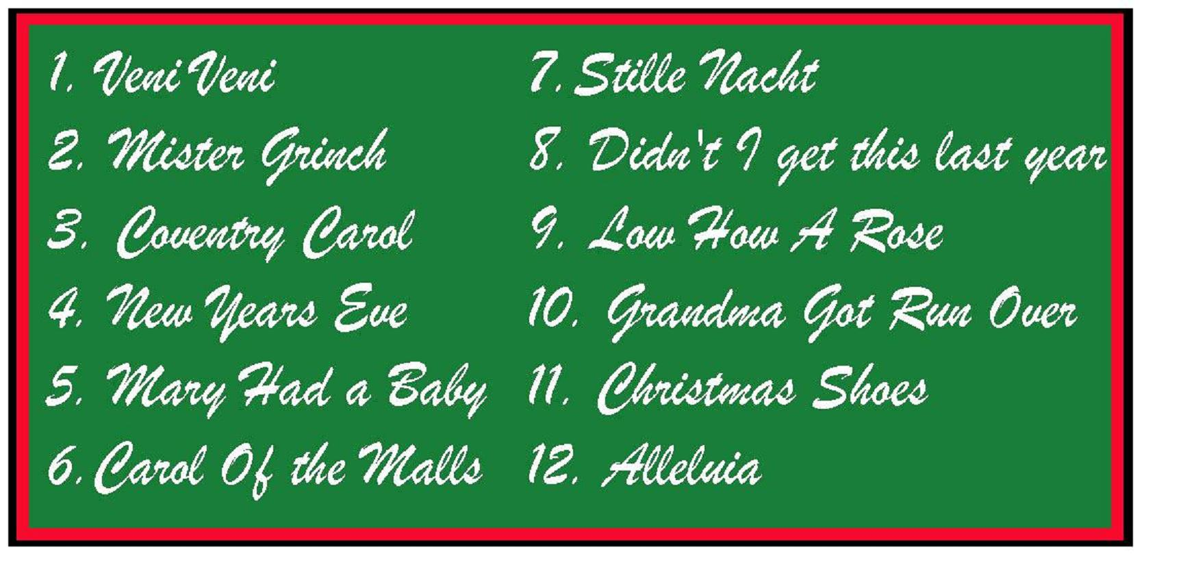 christmas songs list - Classic Christmas Songs List
